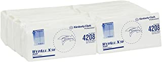 WypAll X50 Reinforced Single Sheet,  White,  75 Wipers/Pack,  Case of 8 Packs