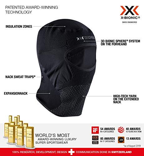 X-Bionic Stormcap Eye 4.0 Balaclavas Windstopper, Unisex Adulto, Black/Charcoal, 1