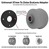 Universal 37mm Step-up Adapter for Zeiss Exolens for use with DREAMGRIP, Beastgrip, Helium Core, and Other rigs with 37mm Thread