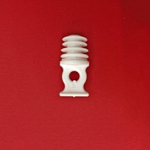 Easy-Shadow - 20 Stück Hochwertige Endstopfen / Verschlußstopfen für 9-10 mm Bohrlöcher Gardinen-Stopper Abschluss passend für Gardinenschienen Vorhangschienen Gardinenbretter Gardinen Laufschienen Deckenleiste - weiß