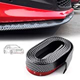 Volwco - Spoiler per paraurti Anteriore, Universale, in Fibra di Carbonio, 2,5 m, per Auto, Camion, SUV, Decorazione Fai da Te