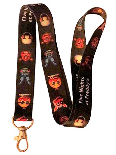Five Nights At Freddys Characters Faces ID Holder LANYARD Keychain