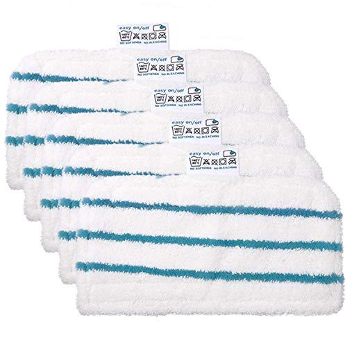 Zealing Paquete de 5 Almohadillas de Microfibra de Repuesto para mopa de Vapor Black & Decker FSMH1321, FSM1605, FSMH13151SM, Parte # FSMP20