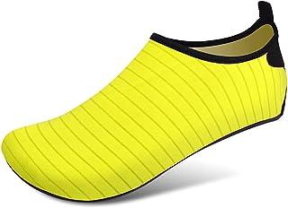 Women Water Sokken Strandschoenen Zwemmen Schoenen Barefoot Bescherming Sneldrogend Snorkelen Surfen Duiken Aqua Sokken,Ye...