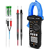 Digital Clamp Meter AC DC Meter AP-7200B Clamp Amp Meter TRMS 6000 Counts Voltage Tester Auto-ranging measures Capacitance, Continuity, Amperage, Volt, Ohm Clamp-on Ammeter