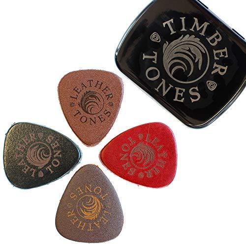 Timber Tones Leather Tones Plektren gemischt, in Dose, 4 Stück