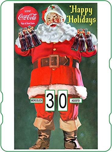 Calendario Perpetuo Coca-Cola: Babbo Natale Happy Holidays