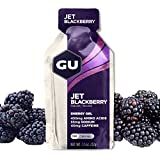GU Energy Original Sports Nutrition Energy Gel, 24-Count, Jet Blackberry