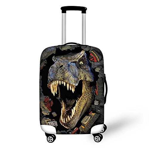 HUGS IDEA Cool 3D Animals Dinosaur Luggage Trolley Case Protective Cover for 22/24/26 Inch Suitcase