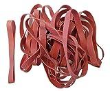 25 Stück elastische Gummibänder lang, dick, spannkräftig, haltbar, wiederverwendbar, dicke Gummiringe für Haushalt & Büro, Farbe Rot, 130mm x 10mm