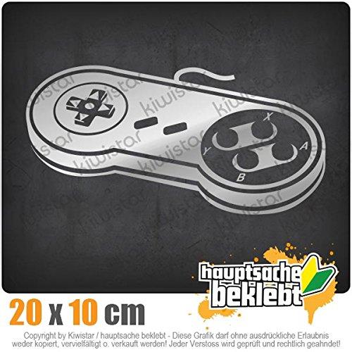 KIWISTAR Aufkleber - Controler Retro Spiel zocken Games Spiel - Autoaufkleber Sticker Bomb Decals Tuning Bekleben