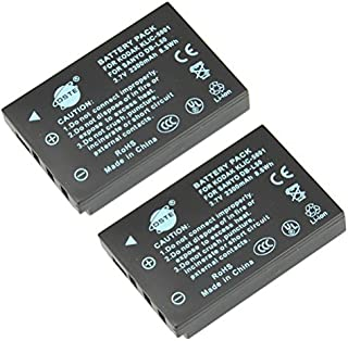 DSTE Replacement for 2X KLIC-5001 Li-ion Battery Compatible Kodak P850 Z760 DX7590 DX7630 Zoom Sanyo DMX-FH1 FH11 HD1000 HD2000 VPC-WH1 VPC-HD1010 HD2000 Camera as Sanyo DB-L50