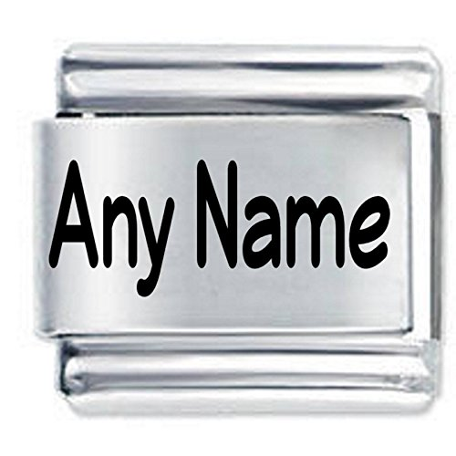 Daisy Charm Personalised Custom Made Etched Italian Charm - Any Name or Phrase - Fits All 9mm Italain Style Charms