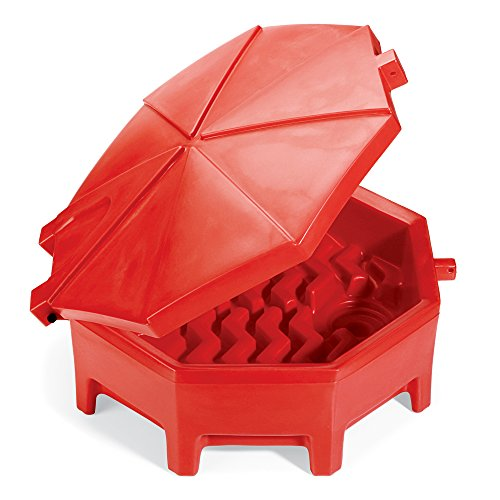 New Pig Poly Drum Funnel | Hinged Lid | For 55 Gal Tight-Head Steel & Poly Drums | 29
