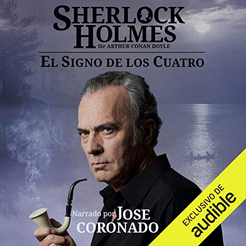 Diseño de la portada del título Sherlock Holmes - El signo de los cuatro