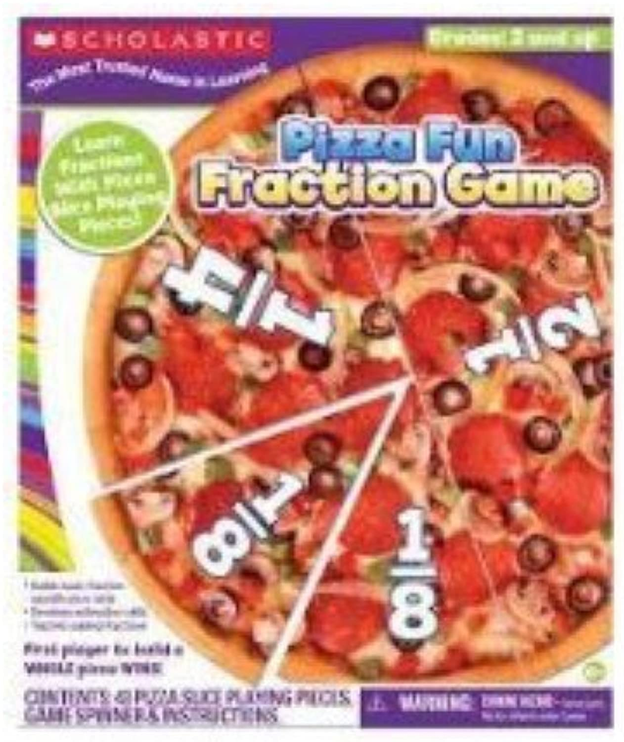 Scholastic Pizza Fun Fraction Game