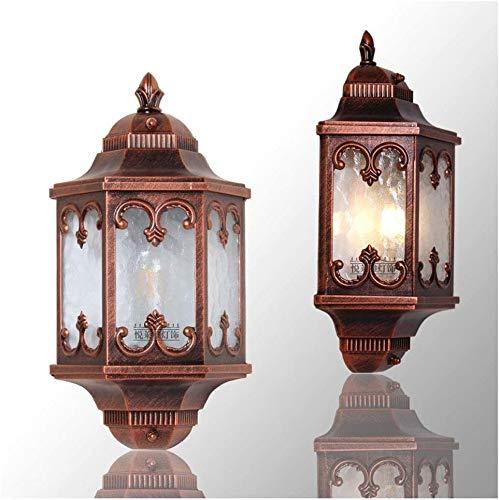 Zhangl Rust impermeable al aire libre lámpara de pared, con conexión de...