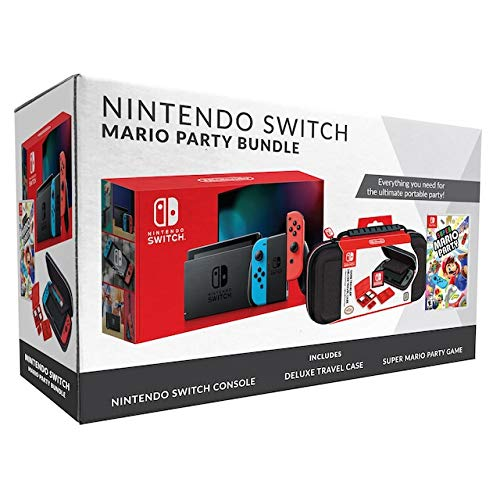Nintendo Switch Bundle with Mario Party & Case