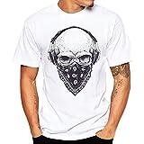 BOLANQ T Shirt Homme Father's Day, T-Shirts à Manches Courtes pour Hommes(Medium,Blanc)