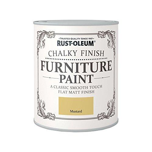 Rust-Oleum RO0070004G1 - Pintura De Chalky Finalizar Muebles - Mostaza - 750Ml