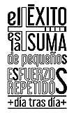 Docliick® Vinilos de pared decorativo con frase decorativa motivadora'EL ÉXITO ES LA SUMA.'...