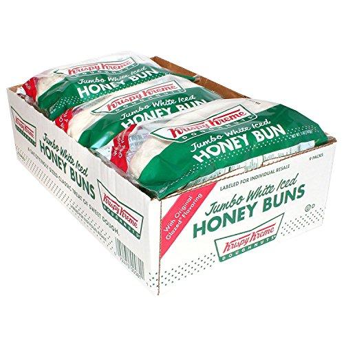 Krispy Kreme Jumbo White Iced Honey Bun, 5 Ounce -- 9 per case.
