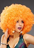 Sancto Extra Curly Naranja Grande 70s Disco Afro Peluca