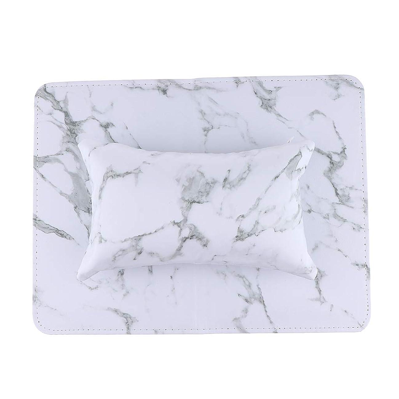 アトミックヘビー真珠のようなPUクッション ピロー マット ネイルアート ハンド/アームレスト マニキュアツール 全5色 - 白