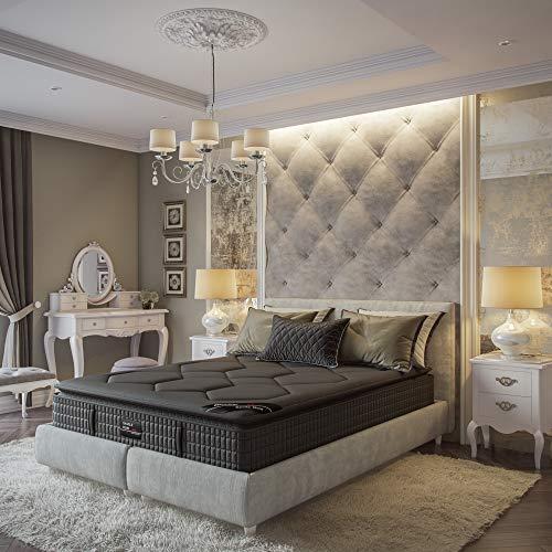 Savile Row No. 14 Premium Innerspring and Memory Foam Hybrid Pillow Top 13.5 Inch Luxury Mattress, Full