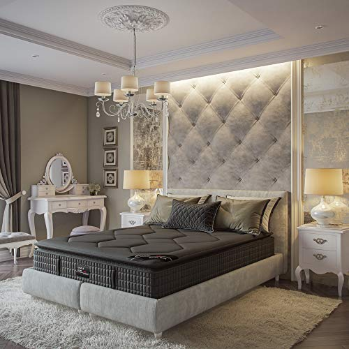 Savile Row No. 14 Premium Innerspring and Memory Foam Hybrid Pillow Top 13.5 Inch Luxury Mattress, King