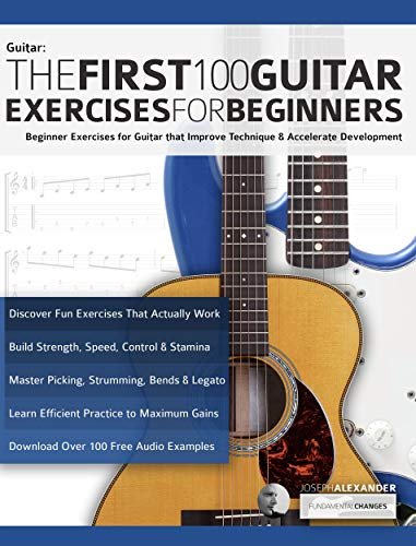 The First 100 Guitar Exercises for Beginners: Beginner Exercises ...