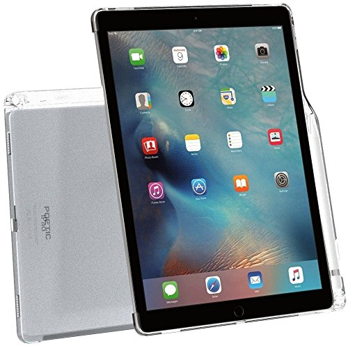 Poetic Lumos Apple iPad Pro 12.9 Case with Ultra-Thin Impact Resistant Flexible Soft Transparent TPU Case for Apple iPad Pro 12.9 (1st Gen 2015) / iPad Pro 12.9 (2nd Gen 2017) Clear
