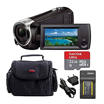 Sony HD Handycam Camcorder (Black) with Sony 32GB Accessory Bundle from Sony