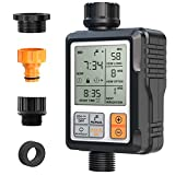 CROSOFMI Sprinkler Timer,Water Timer Digital Programmable Garden Lawn Hose Faucet Timer Irrigation System Controller/Child Lock Mode/Auto&Manual Mode/Rain Delay/3 Inches Large Screen/IP65-UPGRADE