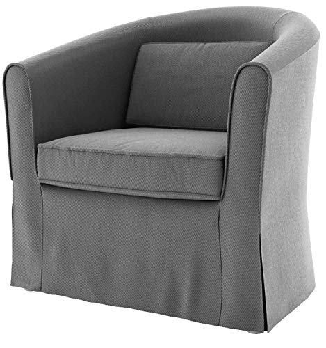 TLY Tullsta Sesselbezug für IKEA Tullsta Sessel, Ersatzbezug grau