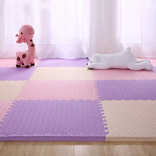 New LFYT Foam Floor Mat Children's Bedroom Thick 2.5CM, Stitching Crawling Mat Home Anti-Skid Anti-C...