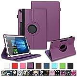 Housse tablette pour Archos 101b Oxygen Coque de protection Case Cover 360° Case, couleurs: Violet