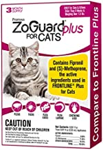 ZoGuard Plus Flea and Tick Prevention for Cats, Over 1.5 lbs (3 Dose)