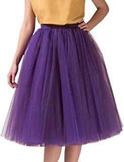 dada2e3573f Wedding Planning Women s A Line Short Knee Length Tutu Tulle Prom Party  Skirt