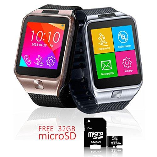 Indigi® Android 4.4SmartWatch + teléfono + WiFi + Bluetooth + stepcounter-libre 32GB...