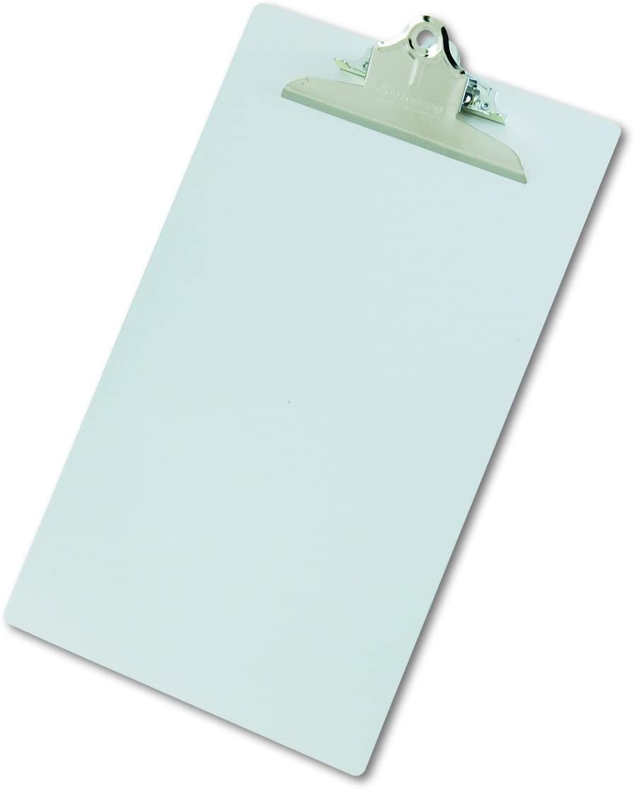 Saunders Silver Recycled Aluminum Clipboard with Chrome Clip - Legal Size Document Holder for Home, Office, and Business Use (22519) (SAU22519)