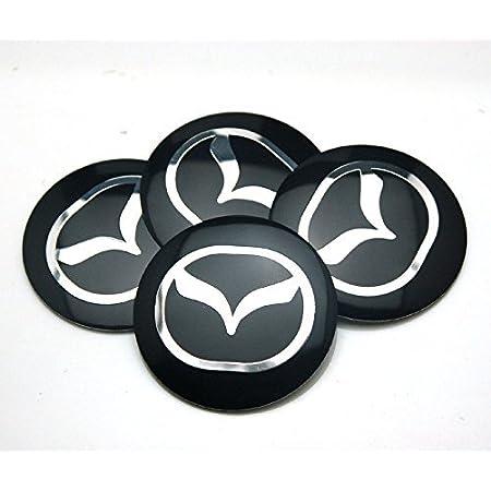 4pcs Auto Alloy Wheel Hub Center Caps Covers 57MM for Mazda 5 6 323 626 RX8 7 MX3 MX5 Atenza Axela Replacement Badge Emblem Covers Decorative Wheel Trim Car Styling Accessori