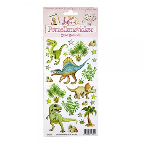 Porzellansticker Dinosaurier | ohne Brennen | Dino | Dinosauriers Rex | Sticker