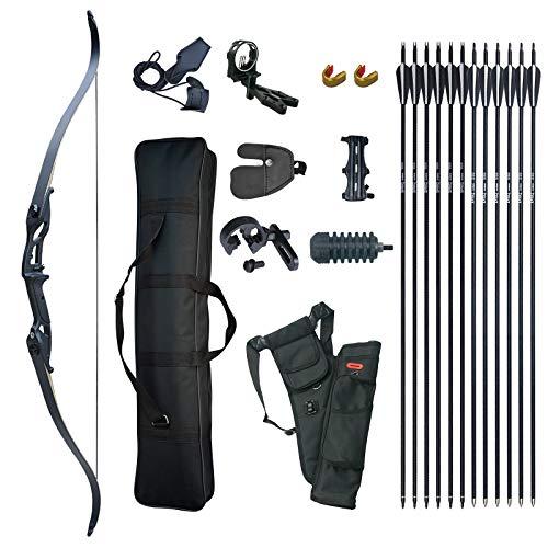 D&Q Takedown Recurve Bow Set Adult Kit Archery Hunting Shooting Target...