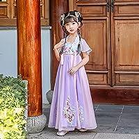 伝統的な服 子供のハンフ 女の子中国風スーパーフェアリー古代のドレスハンフ子供古代風タンドレスガール薄いセクション子供服スカート夏