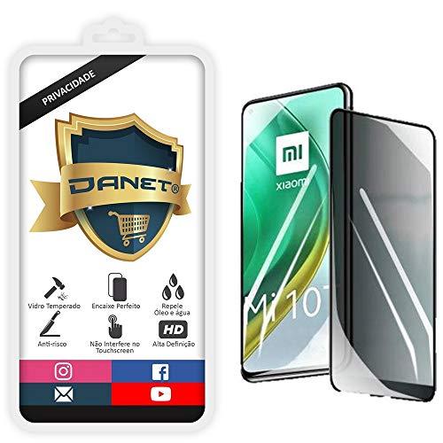 """Película De Privacidade Vidro Temperado Para Xiaomi Mi 10T e Mi 10T Pro com Tela 6.67"""" Polegadas - Proteção Anti Impacto E Curioso Top Spy Premium 3d - Danet"""