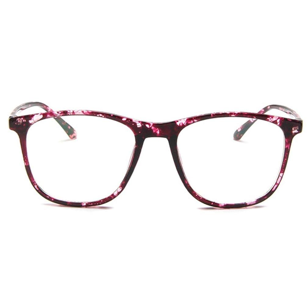 事ロッカーハロウィン韓国の学生のプレーンメガネ男性と女性のファッションメガネフレーム近視メガネフレームファッショナブルなシンプルなメガネ-パープル