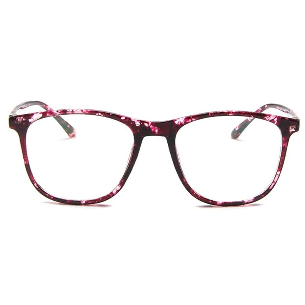 先繰り返し略語韓国の学生のプレーンメガネ男性と女性のファッションメガネフレーム近視メガネフレームファッショナブルなシンプルなメガネ-パープル