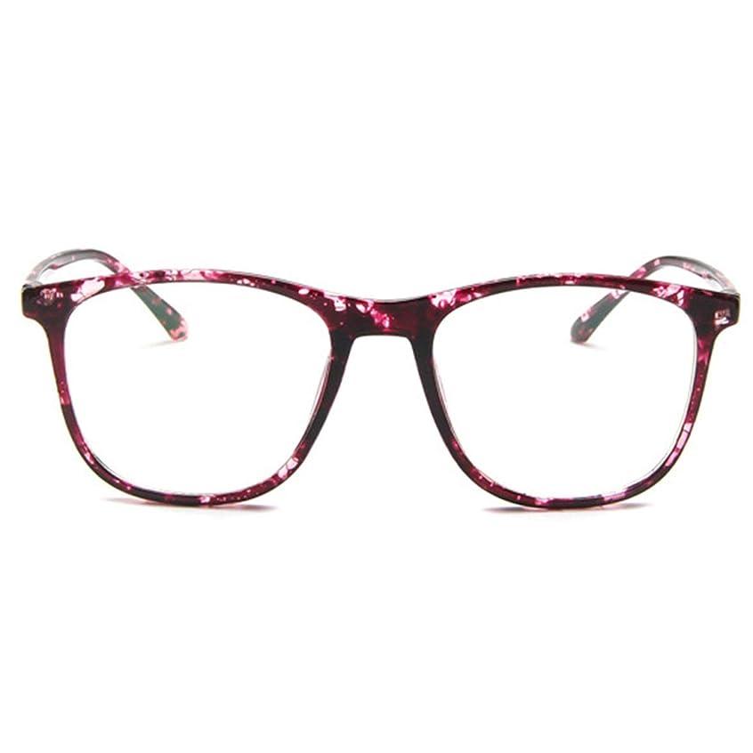 後継結果として時代遅れ韓国の学生のプレーンメガネ男性と女性のファッションメガネフレーム近視メガネフレームファッショナブルなシンプルなメガネ-パープル