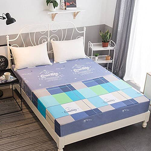 CYYyang Protector de colchón/Cubre colchón Acolchado, Ajustable y antiácaros. Sábana de Cama Todo Incluido de Color Puro Antideslizante-9_180 * 200 * 25cm